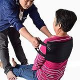 [LOSCHEN] 移乗ベルト 患者/高齢者移動サポート ハンドル付く移乗シート 一人用 腰部負担減る 起き上がり/足を上げる補助 80*21cm ベッド車椅子介護ベルト