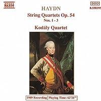 String Quartets Op 54, 1-3