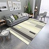 絨毯 横糸 オレンジ ラグマットマット 8レベル 160X230CM シンプルでモダンな幾何学的な格子敷物リビングルームのコーヒーテーブルの寝室のベッドサイドのホームスタディ北欧スタイルのエントリマット格子ポリエステル洗濯機で洗える