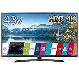 LG 43V型 4K 液晶テレビ HDR対応 IPS4Kパネル スリムボディ Wi-Fi内蔵 UJ630Aシリーズ 43UJ630A