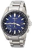 [セイコーウォッチ] 腕時計 アストロン GPSソーラー ストライプ文字盤 SBXB159 メンズ シルバー