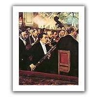 アートウォール 'The Opera Orchestra' アンラップフラットキャンバスアートワーク Edgar Degas 18 by 22-Inch 1deg044a1418r