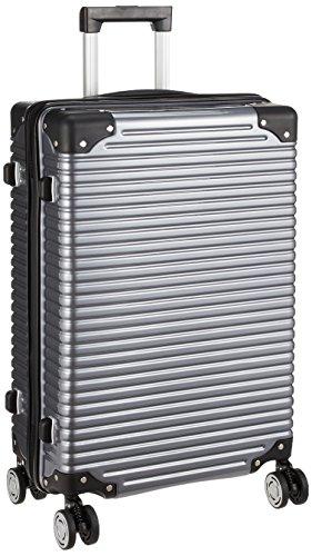 [トライデント] ハードジッパースーツケース サスペンション付キャスター 保証付 64L 61cm 4.3kg TRI2064-61 ガンメタ ガンメタ