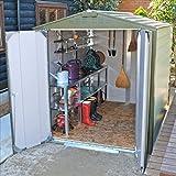 ガーデナップ メタルシェッド TM1 D60TM1 アペックスルーフ 物置 『おしゃれ 物置小屋 屋外 自転車の収納にもおすすめ』  ツートンカラー(D60TM1MLOG)