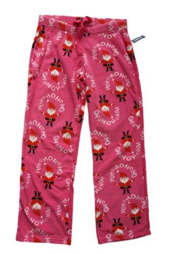 レディース プリント フリース ロング パンツ 329489 (ピンク・大きめサイズ) オールドネイビー