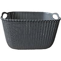 Perfk バスケット オーガナイザー 収納 バスケット 耐久性 全2色3サイズ  - ブラック, M