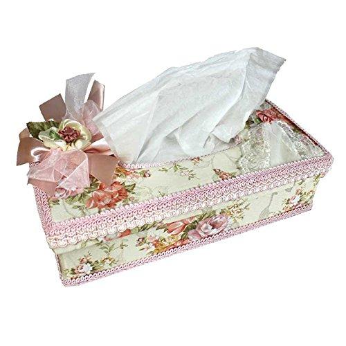 薔薇 ローズ エレガント ティッシュケース ティッシュボックス (アイボリー)