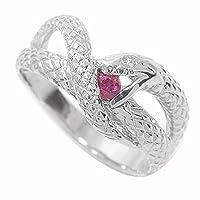 アルマ シルバー925 蛇 ルビー 指輪 ダイヤモンド スネーク サイズ7号 レディース