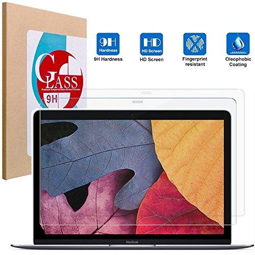 新 MacBook 12 インチ 2016 強化ガラスフィルム 9H硬度 液晶保護 0.3mm 薄型 耐指紋 撥油性 高透過率 ラウンドエッジ加工