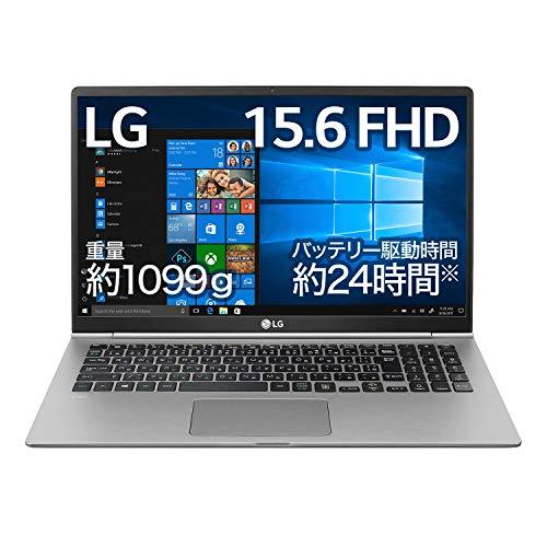 LG ノートパソコン gram 1099g/バッテリー24時間/Core i7/15.6インチ/Windows 10/メモリ 8GB/SSD 512GB/Thunderbolt3/Dシルバー/15Z990-VA76J