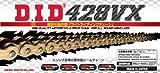 D.I.D(大同工業)バイク用チェーン 軽圧入クリップジョイント付属 428VX-130FB G&G(ゴールド) X-リング 二輪 オートバイ用