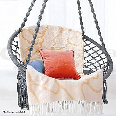 Gardeon Hammock Chair Brazilian Camping Hammock Swing for Indoor Outdoor Garden Patio - Grey
