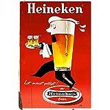 メタルブリキ看板 Heineken レアポスター 錆びたヴィンテージ装飾 ホームバー パブ ガレージ 壁 ブリキ看板 7.8X11.8インチ