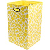 Modern Littles Rusty Folding Laundry Basket, Yellow Giraffe by Modern Littles [並行輸入品]