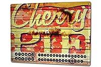 カレンダー Perpetual Calendar World Trip M.A. Allen cherry Cake Tin Metal Magnetic