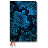 Paperblanks ペーパーブランクス 手帳 Dayplanners 2017 Blue Muse Mini Horizontal 12Months 英語版 正規輸入品 DE3335-6