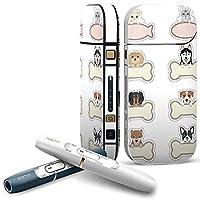 IQOS 2.4 plus 専用スキンシール COMPLETE アイコス 全面セット サイド ボタン デコ 犬 猫 キャラクター 009180