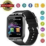 スマートウォッチ Bluetooth搭載 多機能腕時計 スマートデジタル腕時計 smart watch 多機能 時計 健康 カメラ搭載 ブルートゥース 腕時計 通話対応来電通知 sim/TF対応 ボイスレコーダー 着信通知 時計 Line SMS 日本語説明書 (黒)