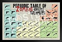proframes Zombie Killing Weapons周期表参照チャートフレーム入りポスター12x 18