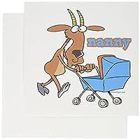 Dooniデザインランダムトゥーン–Funny Nanny Goat PushingベビーカーCartoon–グリーティングカード Set of 6 Greeting Cards