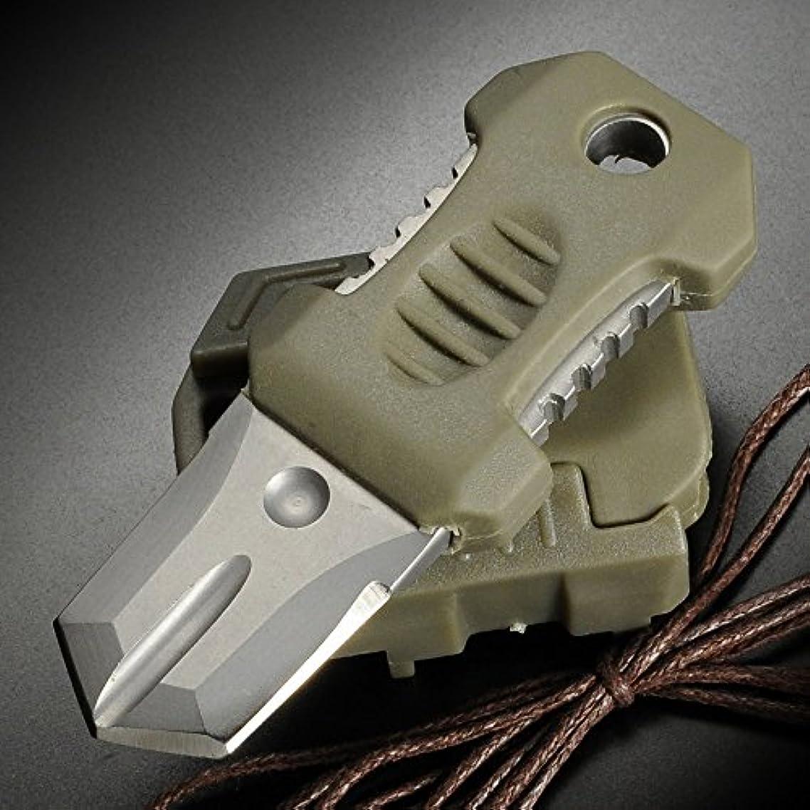 あなたのもの意図組み立てるダブルエッジナイフ 刃付け無し 直刃 MOLLE対応 アダプター付 オリーブドラブ 直刃
