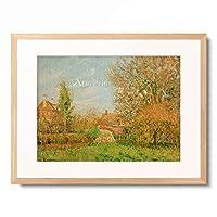 カミーユ・ピサロ Camille Pissarro 「Autumn in Eragny」 額装アート作品