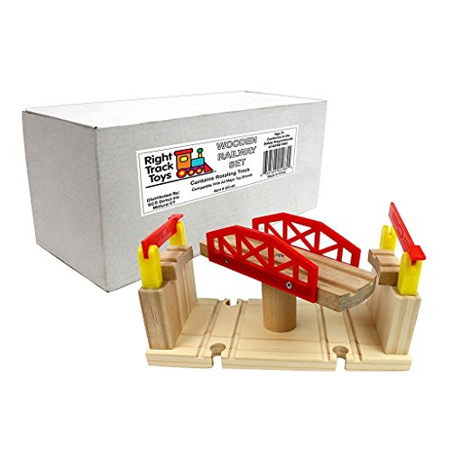 [해외]Right Track Toys 회전 다리 토마스 나무 레일과의 호환성 있음 [병행 수입품]/Right Track Toys Rotary Bridge Thomas compatible with wooden rails [Parallel import goods]
