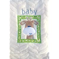 Snugly Baby Embroidered Giraffe Ultra Soft Blanket ~ Cream by Snugly Baby