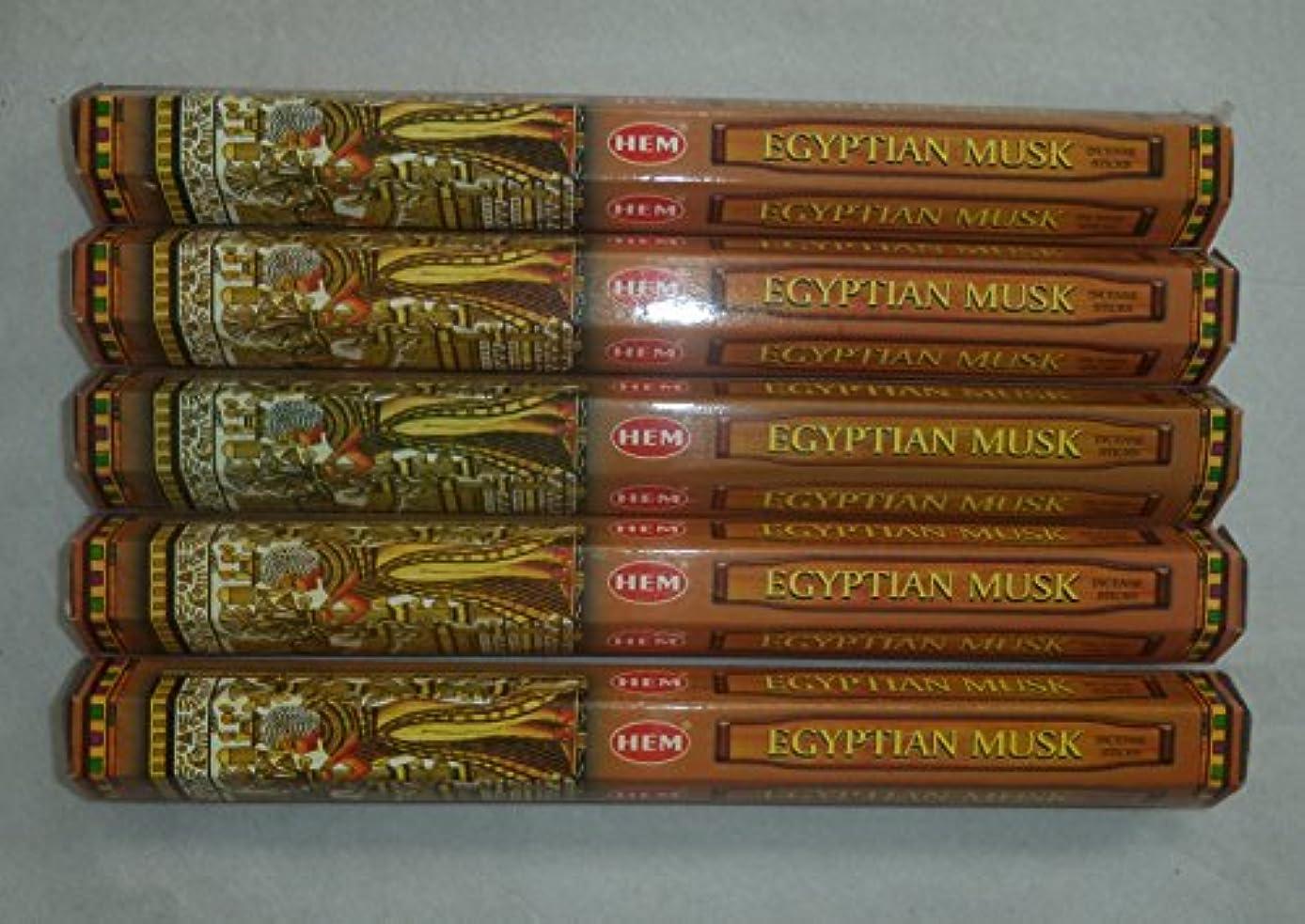 受け入れた換気する襟Hem Egyptian Musk Incense Sticks 5六角チューブ、合計100 Sticks