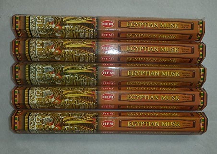 節約一貫性のないビバHem Egyptian Musk Incense Sticks 5六角チューブ、合計100 Sticks