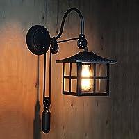 ウォールランプ - ウォールランプアンティーク鉄の壁sconcesリビングルームのレストランバーカフェ回廊アイルバルコニーE27 - 家庭の照明