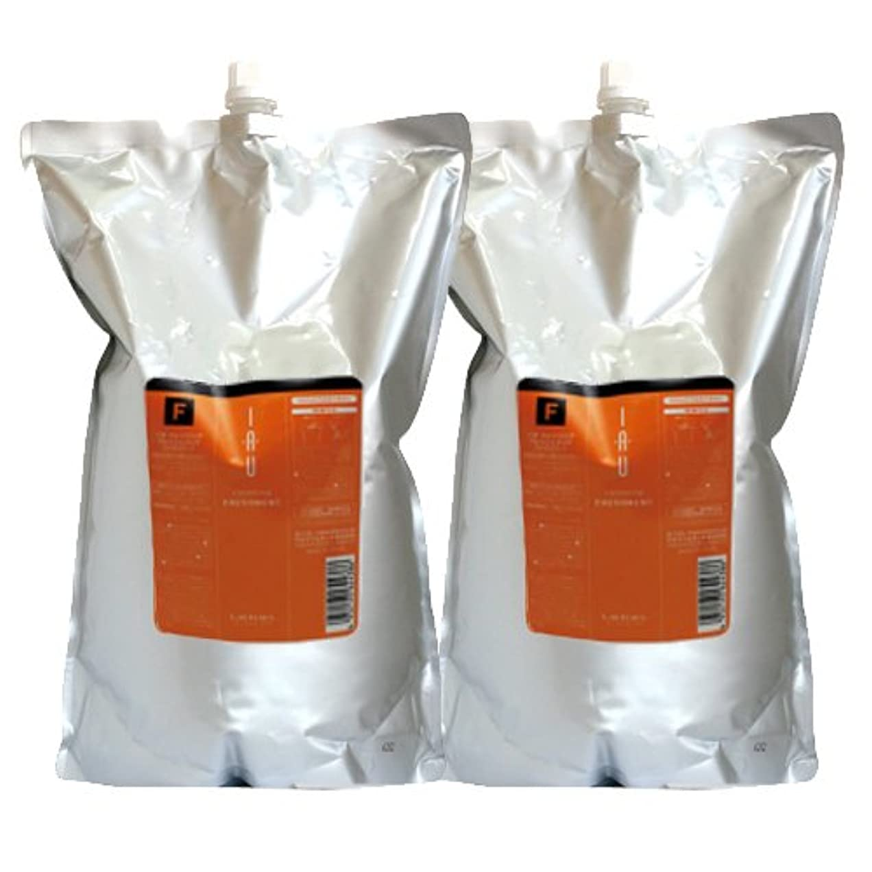 オレンジ消毒するフレームワークルベル イオ クレンジング(シャンプー) フレッシュメント 2500mL × 2本 セット 詰め替え LebeL iau