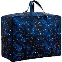 クリエイティブブルーギャラクシアクジラ保管袋3PCSポータブル折り畳みオックスフォード布防水防湿コットンキルト収納大きな荷物衣類移動仕上げ収納袋3個/セット (サイズ さいず : 58 * 22 * 38cm)