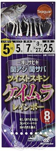 ハヤブサ(Hayabusa) 一押しサビキ 関アジ関サバ ツイストケイムラレインボー 4-4 SS206-4-4