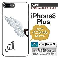 iPhone8Plus スマホケース ケース アイフォン8プラス イニシャル 翼(ペア) 白(左) nk-ip8p-788ini H