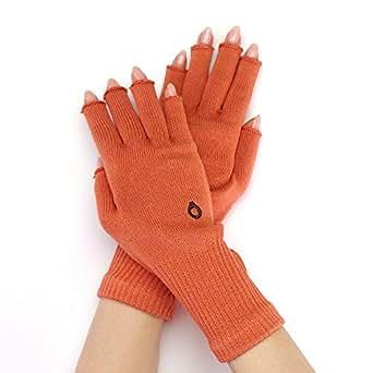 指なし 手袋 綿 日本製 【841 ハンドウォーマー MAX】MAX オレンジ