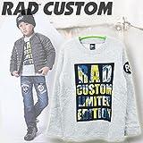 RAD CUSTUM(ラッドカスタム) ロゴ抜きUKプリント_ミニ裏毛長袖Tシャツ (130-160cm/グレイ13) 1635-78011 (140cm)