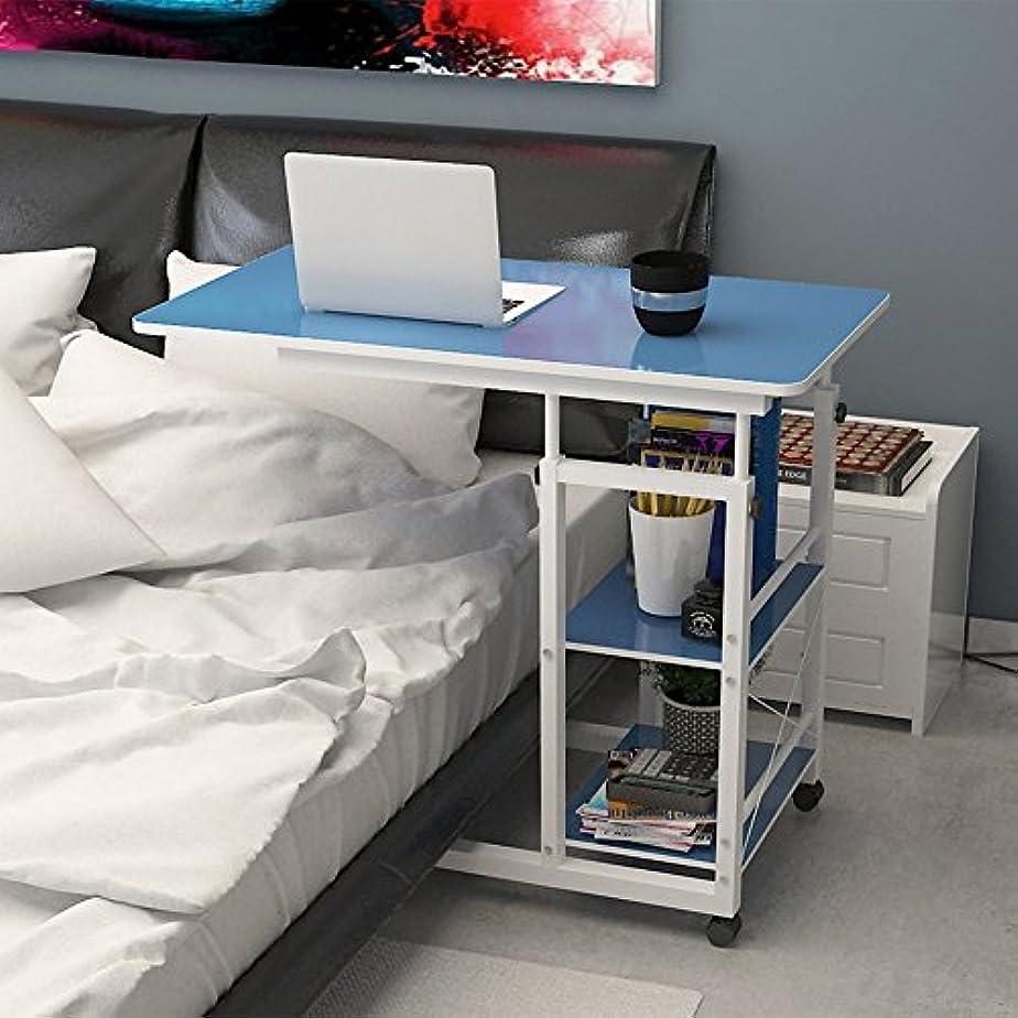 マイクロレンジに対してLJHA zhuozi 折り畳みテーブルデスクトップモバイルコンピュータデスクベッドサイドスタディデスクホームラウンジ表4色オプション80 * 40 * 70cm (色 : B)
