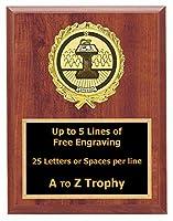 音声Plaque Awards 6x 8木製パブリックSpeaking TrophiesスピーカーTrophy Free Engraving