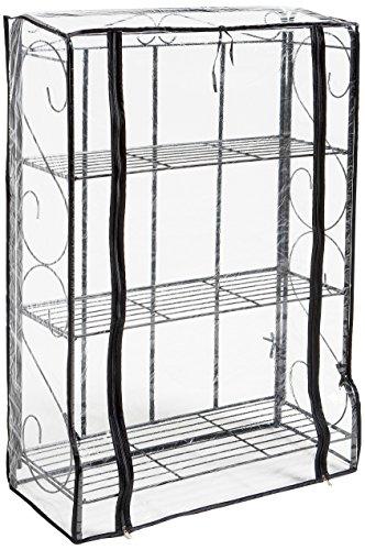 RoomClip商品情報 - グリーンライフ(GREEN LIFE) 折りたたみフラワースタンド温室 3段 ブラック