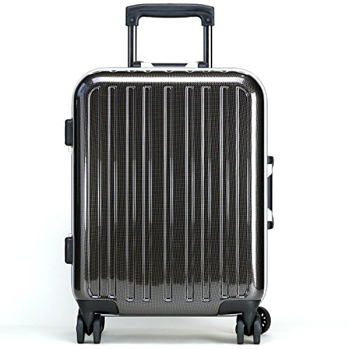 wise:ly(ワイズリー) スーツケース 機内持ち込み フレーム ハード Sサイズ 2泊前後 軽量 キャリー バッグ 338-2062 (ブラックカーボン)