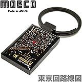 モエコ・moeco 東京回路線図 キーチェーン 黒 TOKYO Keychain B