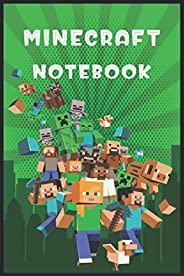 Minecraft Notebook: Player's Notebook, Sketchbook, Diary, Journal, Wide Ruled Writing Notebook For Kids, F