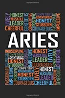 Aries Words: 6x9 Ruled Notebook, Journal, Daily Diary, Organizer, Planner