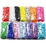 420 Sets 14-Color KAM Snaps, BetterJonny Size 20 T5 Glossy Round Plastic Fasteners Punch Poppers Closures No-Sew Buttons for