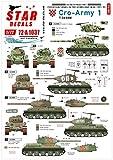 スターデカール 1/72 現用 バルカン半島 クロアチア陸軍 1 祖国戦争でのT-34/85戦車 プラモデル用デカール SD72-A1037
