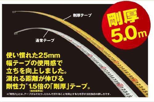 タジマ 剛厚セフコンベ G3ゴールドロックマグ爪 5.0m 25mm幅 メートル目盛 GASFG3GLM25-50BL