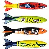 魚 玩具サメ スイミング ダイビングおもちゃカラフル 子供 キッズ ダイブ  潜水用 夏休み 海 水泳 トレーニング 水遊び 訓練用 4点セット
