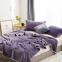 加重 フランネル スロー 毛布,元に戻せる状態 フリース マイクロファイバー ベッド 毛布,スーパー ソフト 厚い 暖かい ソファ 毛布 オール シーズン用- 250x230cm(98x91inch)