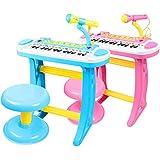 【ノーブランド品】(BaQi Trade)子供 女の子 男の子 おもちゃ キッズ 電子ピアノ マイク付き 知育玩具 女の子 お誕生日プレゼント 1-6歳er20 (ピンク)